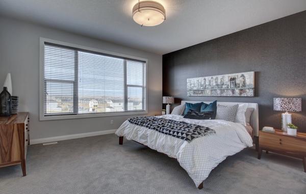 chambre à coucher papier peint gris anthracite