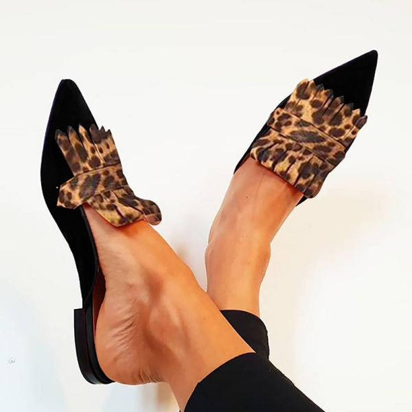 chaussures pointues femme du type chaussons