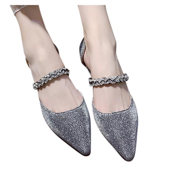 chaussures pointues femme matière lamé