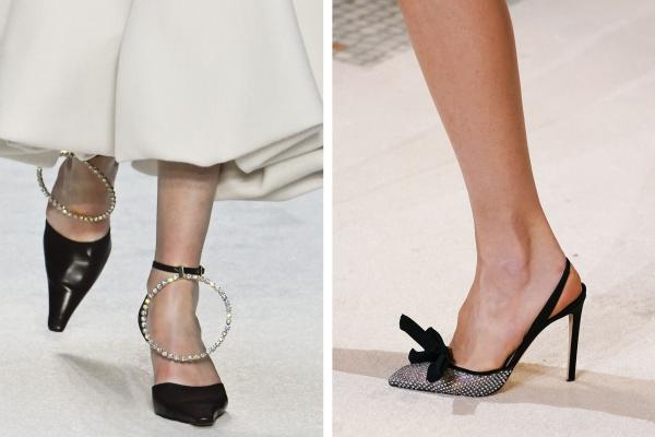 chaussures pointues femme un bracelet en pierres