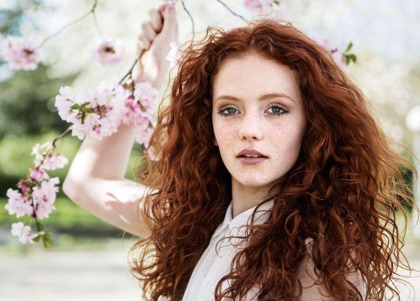 cheveux roux idée coloration henné