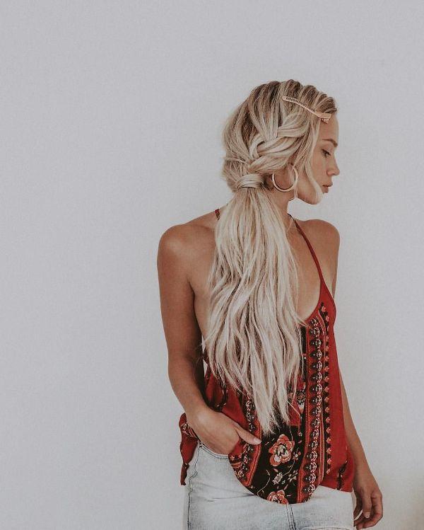 coiffure bohème pour la plage