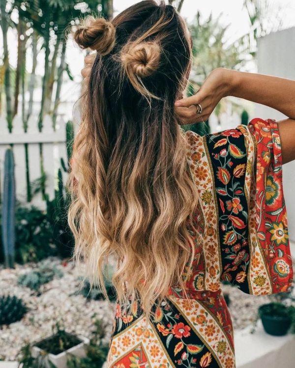 coiffure bohème style casual