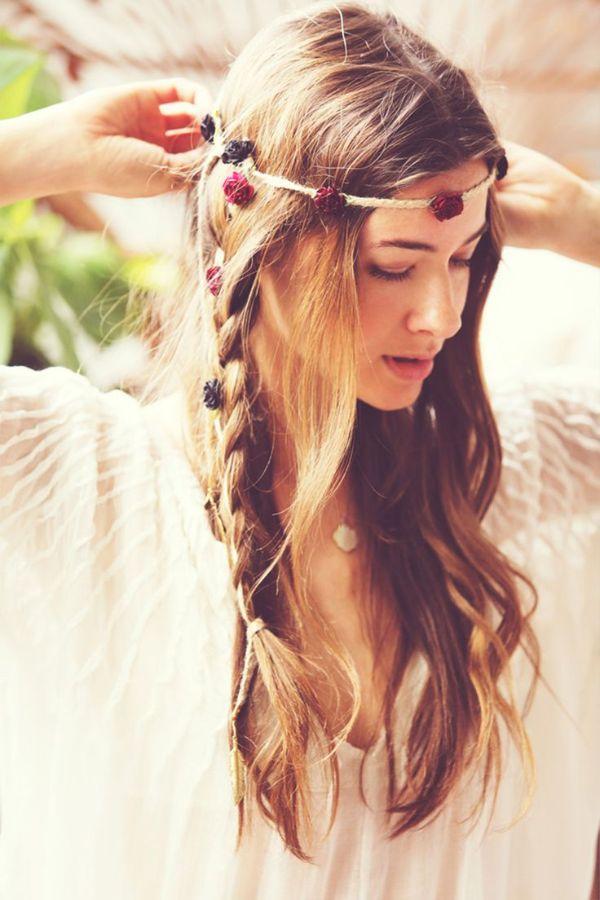 coiffure bohème style hippie boho