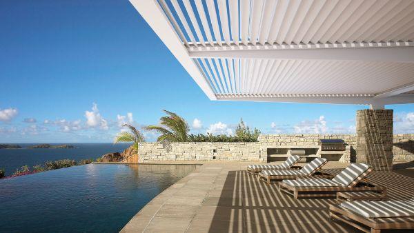 coin repos pergola bioclimatique aménagement espace piscine