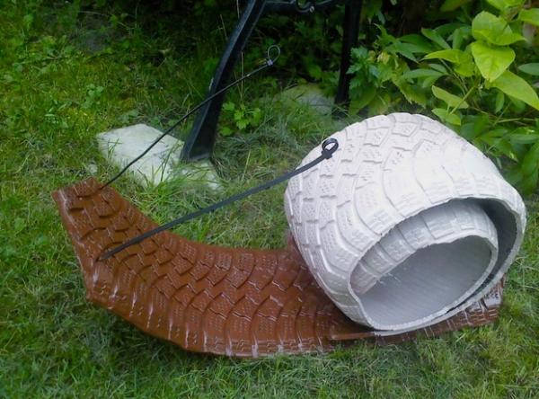 déco pneu recyclé décoration de pneus