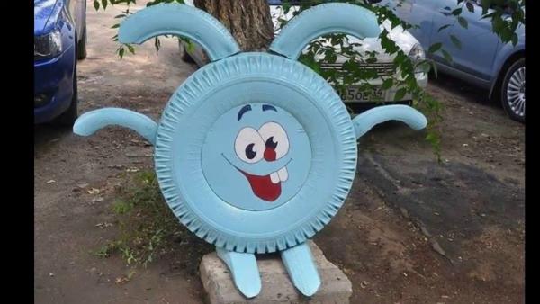 déco pneu recyclé lapin intéressant