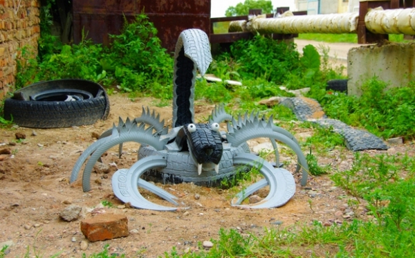 déco pneu recyclé pneu artisanat