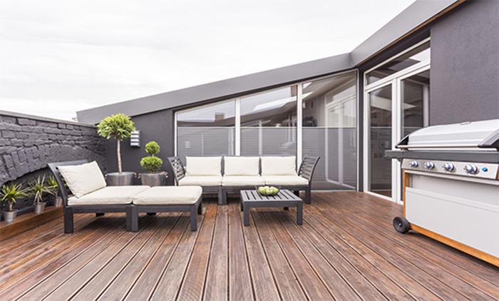 décoration terrasse extérieure moderne équipement cuisinier