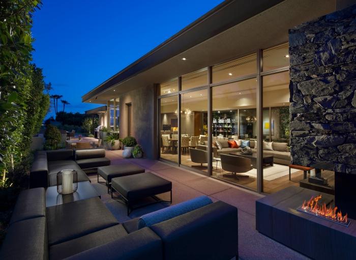 décoration terrasse extérieure moderne jolie extension
