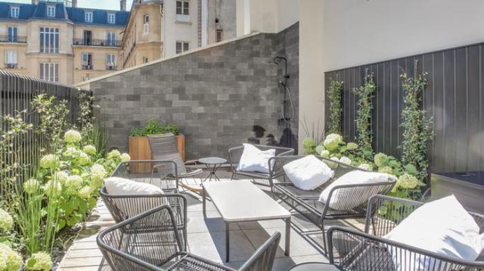 décoration terrasse extérieure moderne terrasse parisienne