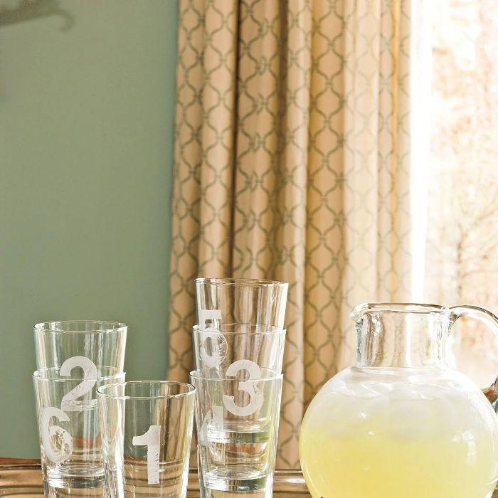 diy déco vaisselle en verre gravure chimique sur verre déco