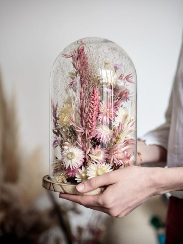 diy fleurs séchées sous cloche espèces sauvages