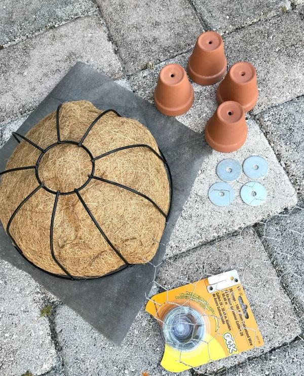 diy jardinière originale tortue matériaux