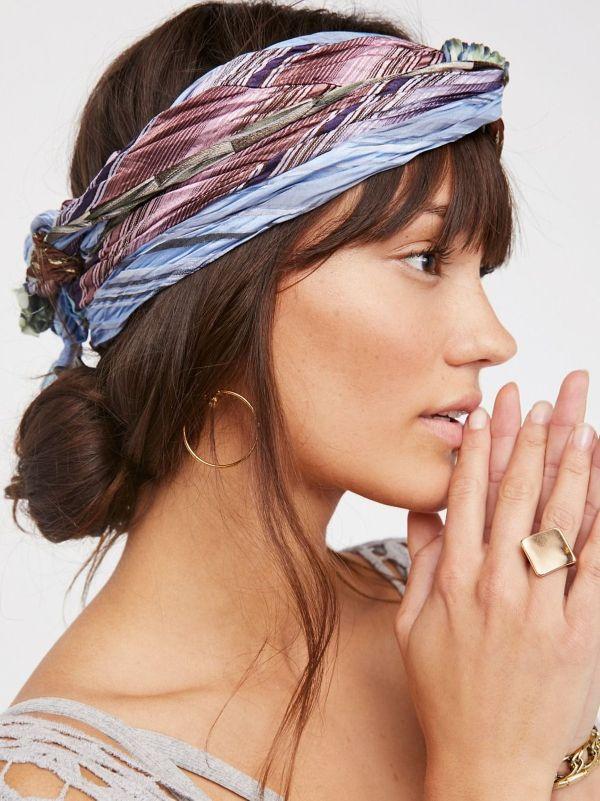 foulard accessoire tendance pour les cheveux coiffure bohème