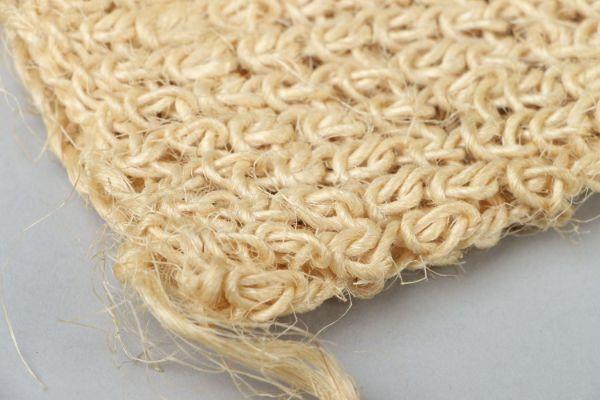 gant de crin végétale de sisal