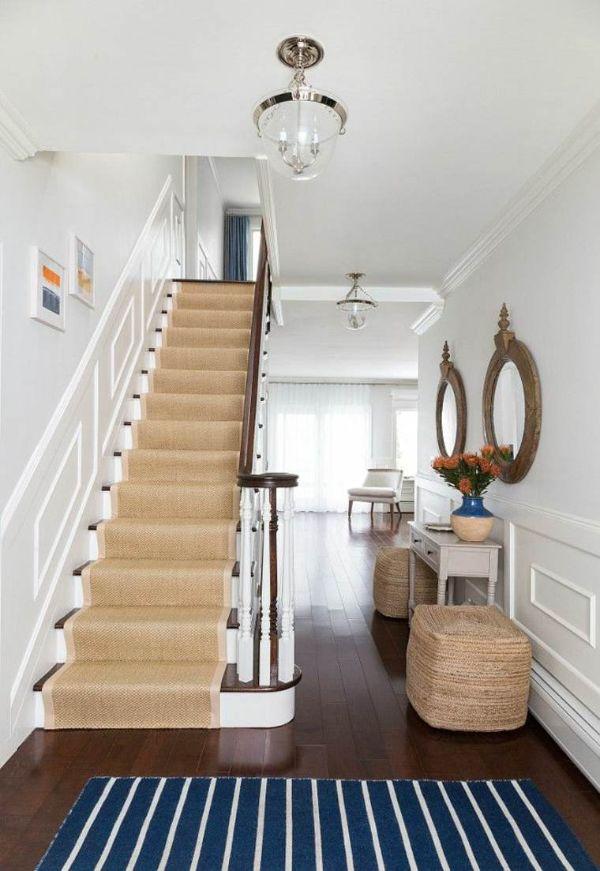 habiller l'escalier tapis fibre naturelle en jonc de mer