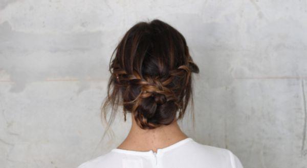 idée de coiffure bohème tendance chignon tressé