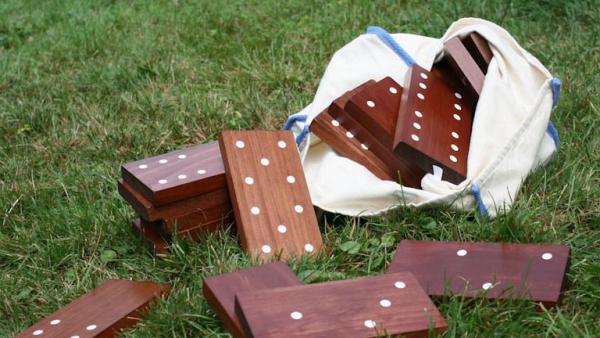 jeux amusants dominos de pelouse
