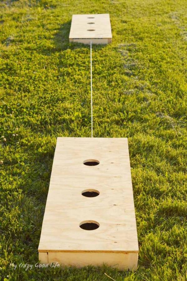 jeux amusants jeu de rondelles à trois trous