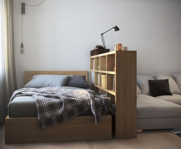 la chambre à coucher étagère à quatre niveaux
