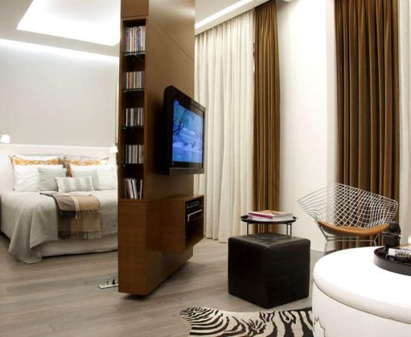 la chambre à coucher meuble au milieu