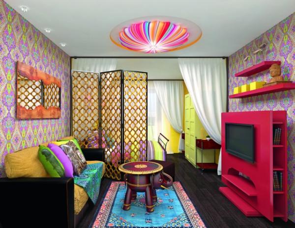 la chambre à coucher meubles en couleurs