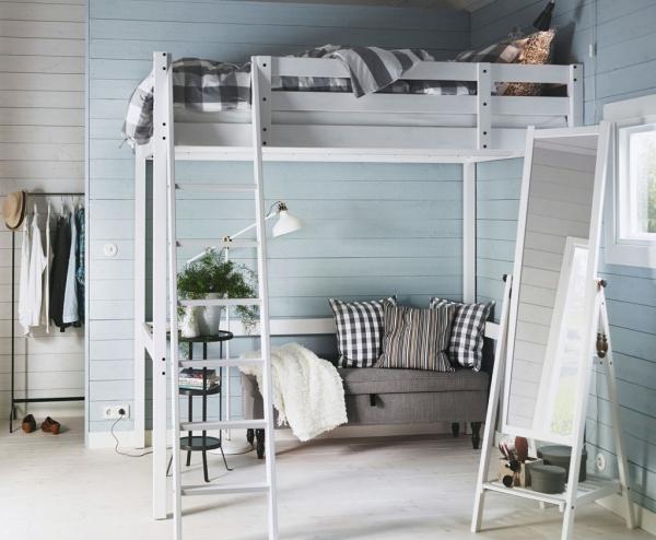 la chambre à coucher petit canapé sous le lit