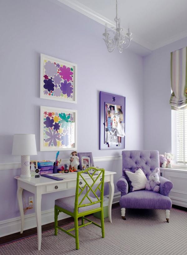 la couleur lavande idée de chambre à coucher