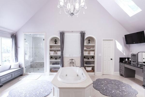 la couleur lavande salle de bains