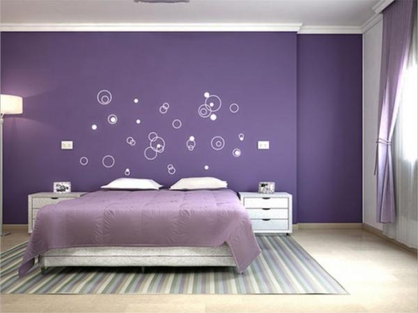 la couleur lavande une chambre à coucher