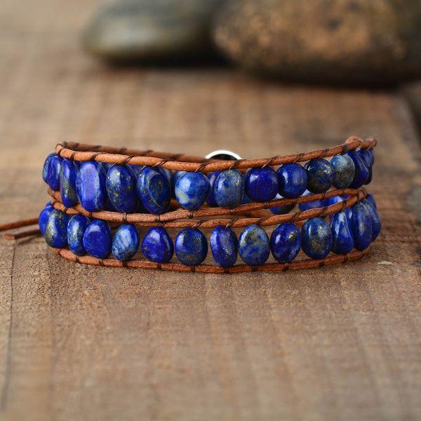 lapis lazuli bracelet pierre anti-stress mode femme 2020