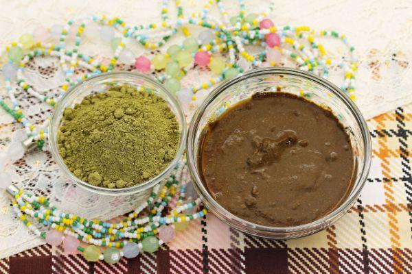 mélange à appliquer sur les cheveux coloration henné