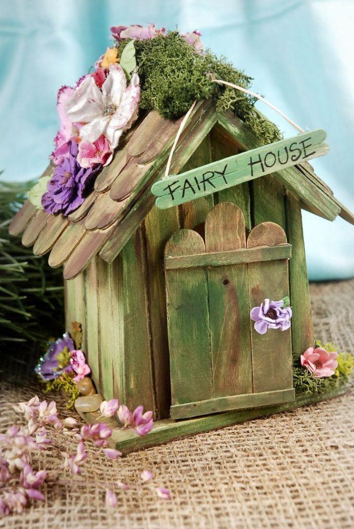 maison de fée bâton de glace en bois