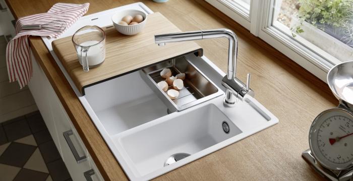 mitigeur cuisine deux compartiments de l'évier