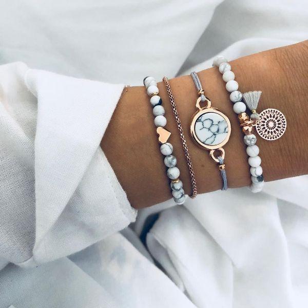 mode et beauté femme bracelet pierre anti-stress