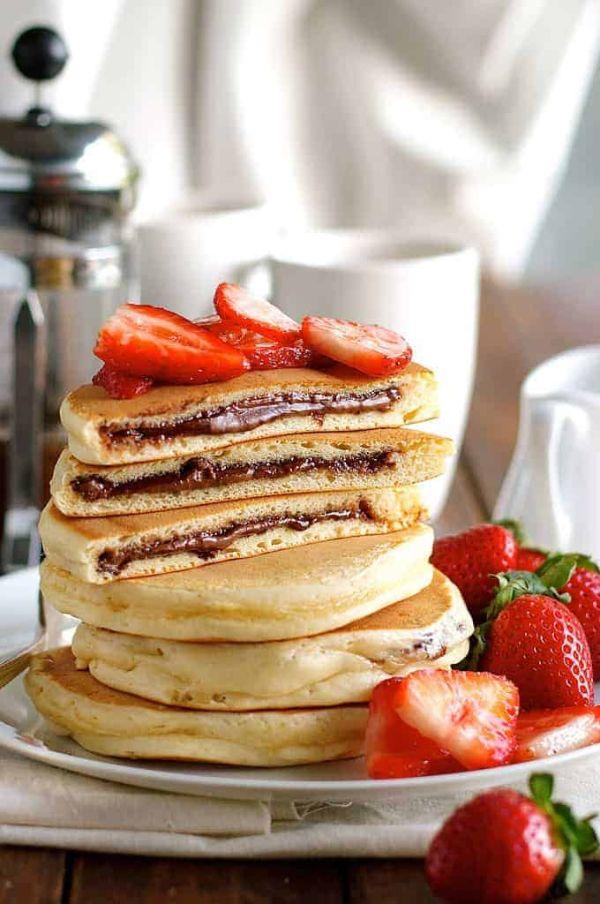 pancake fourré recette au chocolat