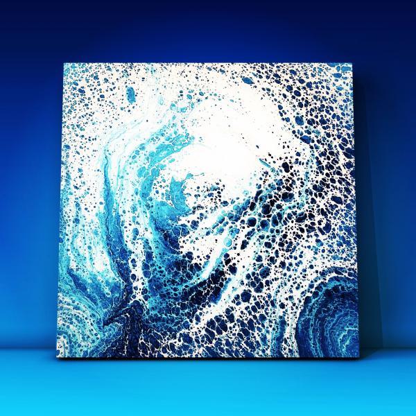 peinture acrylique pouring art abstrait idée déco