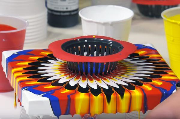 peinture acrylique pouring idées design