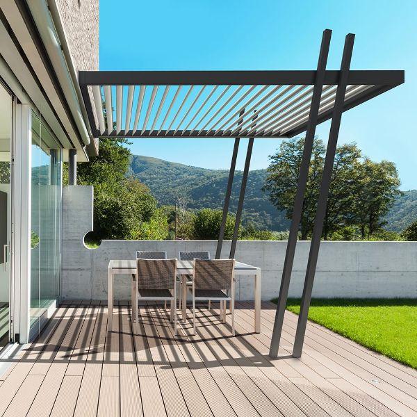pergola bioclimatique aménagement salon de jardin