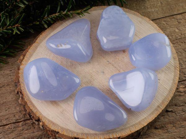 pierre bracelet pierre anti-stress calcédoine bleue