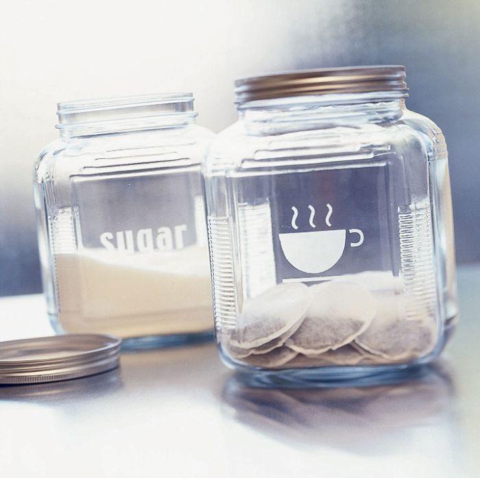 pot à couvercle déco gravure chimique sur verre