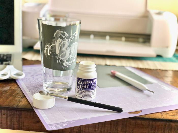 projet diy gravure chimique sur verre