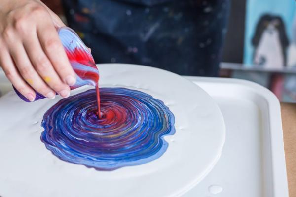 projet diy peinture acrylique pouring