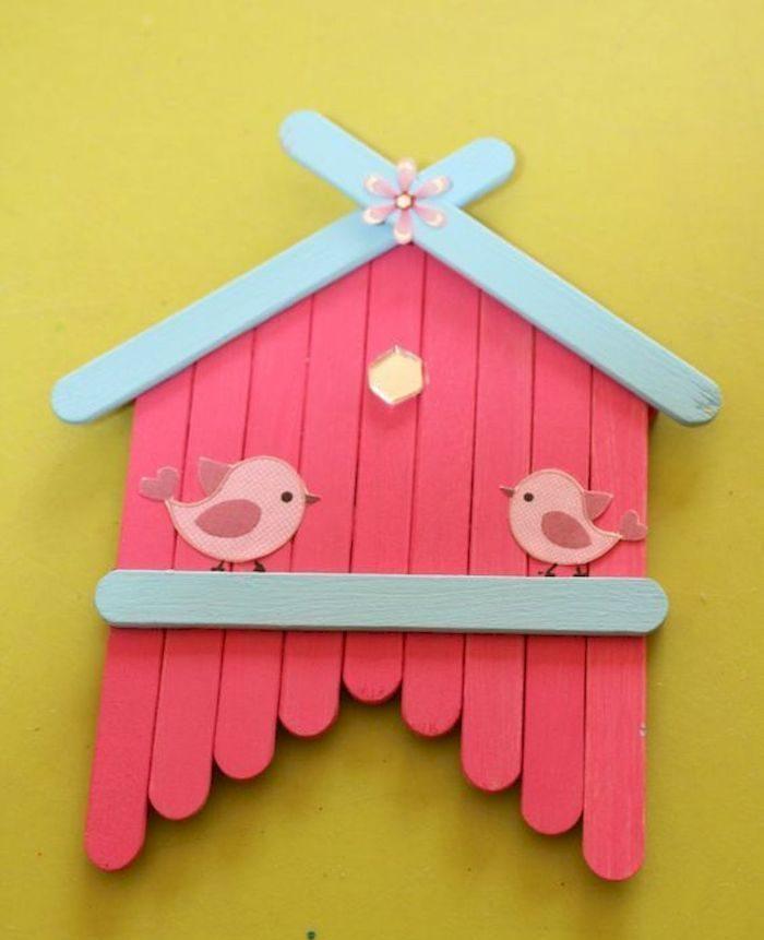 projet diy très joli à fabriquer avec votre enfant idée bâton de glace en bois