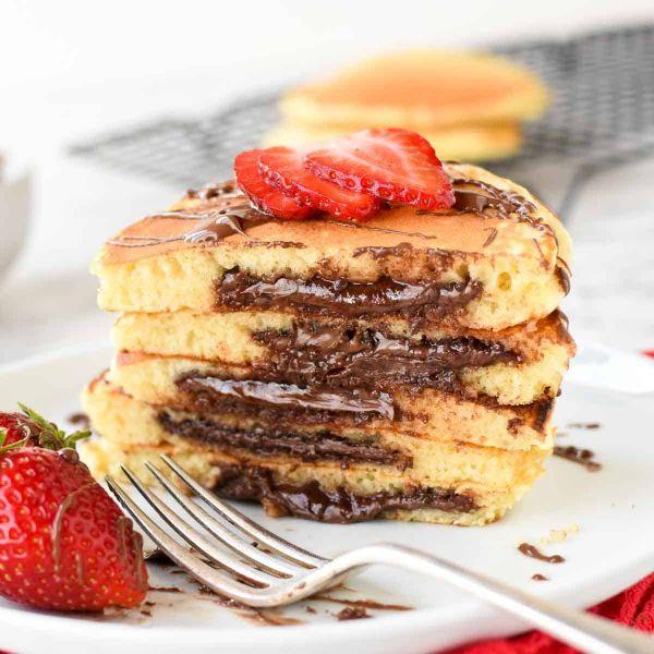 recette facile pancake fourré