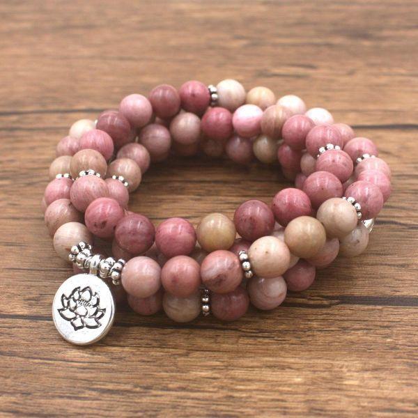 rhodonite pierre anturelle bracelet pierre anti-stress