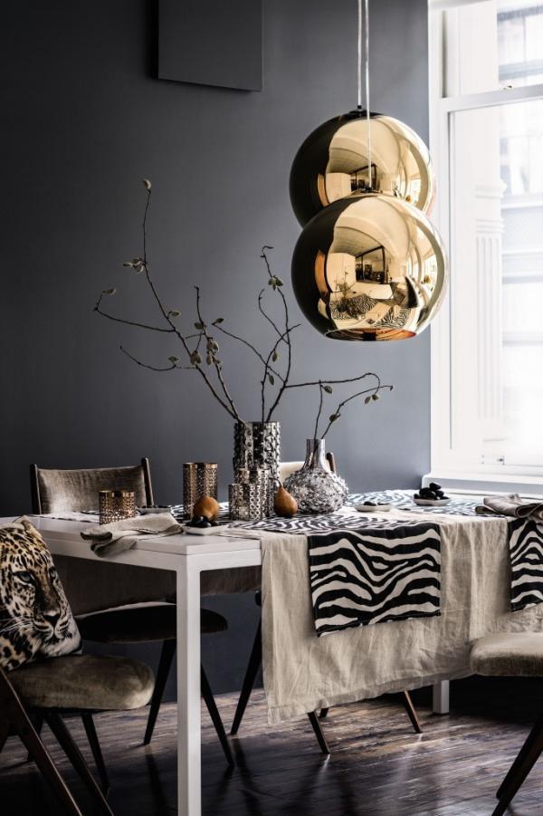 salle à manger gris anthracite table à manger blanche