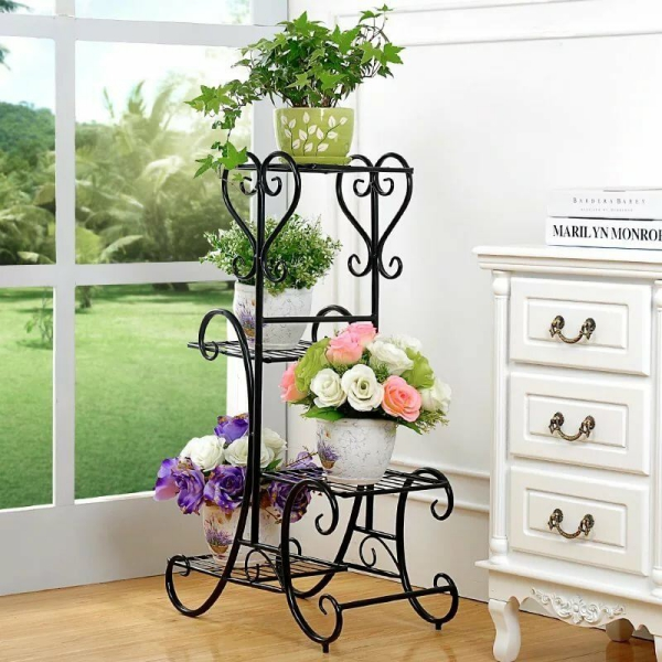 stand de fleurs à l'intérieur en style vintage
