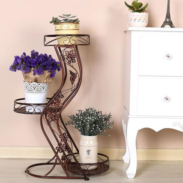 stand de fleurs à l'intérieur pour vases et pots
